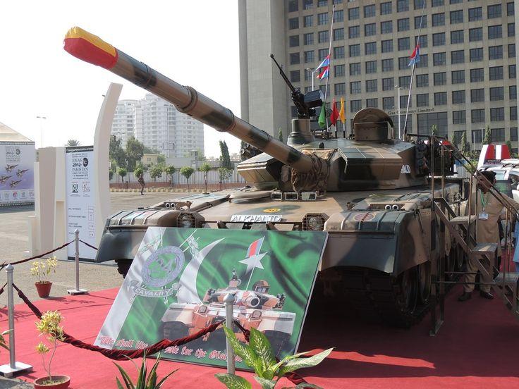 Pakistan main battle tank Al-Khalid MBT on display in November 2012.