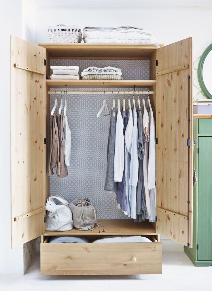 HURDAL garderobekast | WIN! Stel jouw favoriete slaap- en badkamer samen. Het mooiste bord laten we tot leven komen in IKEA Amsterdam. De winnaar wint ook een IKEA cadeaupas t.w.v. 2.500.-! #IKEAcatalogus