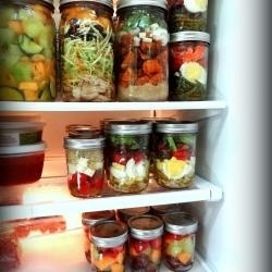 sassy: Healthy Meals, Make Ahead, Good Ideas, In A Jars, Jars Salad, Red Kitchens, Mason Jars Meals, Healthy Lunches, Mason Jar Meals