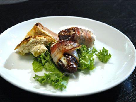 Getostfyllda dadlar med bacon och slarvigt bröd | Recept.nu