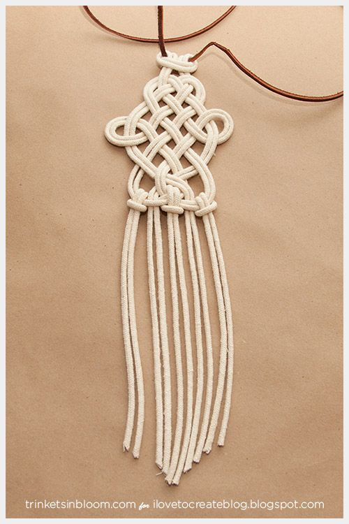 Dip de bricolaje Collar de macramé anudado