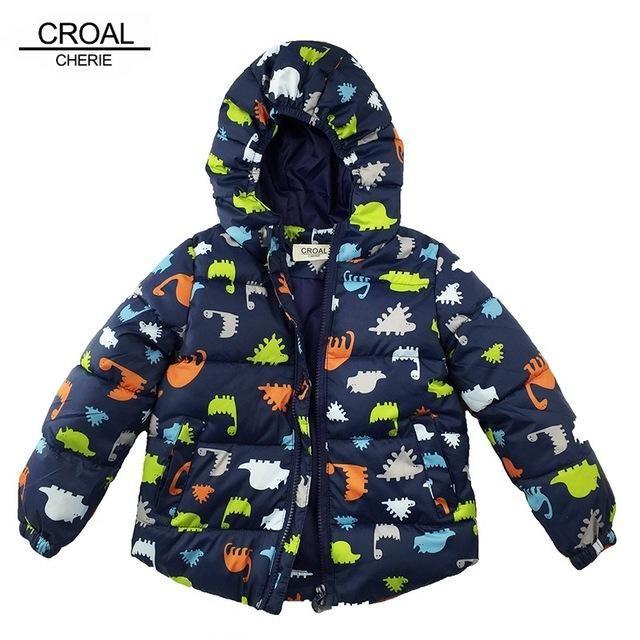 80-120cm Dinosaur <b>Winter Kids</b> Boy <b>Jacket Cotton Outerwear Baby</b> ...
