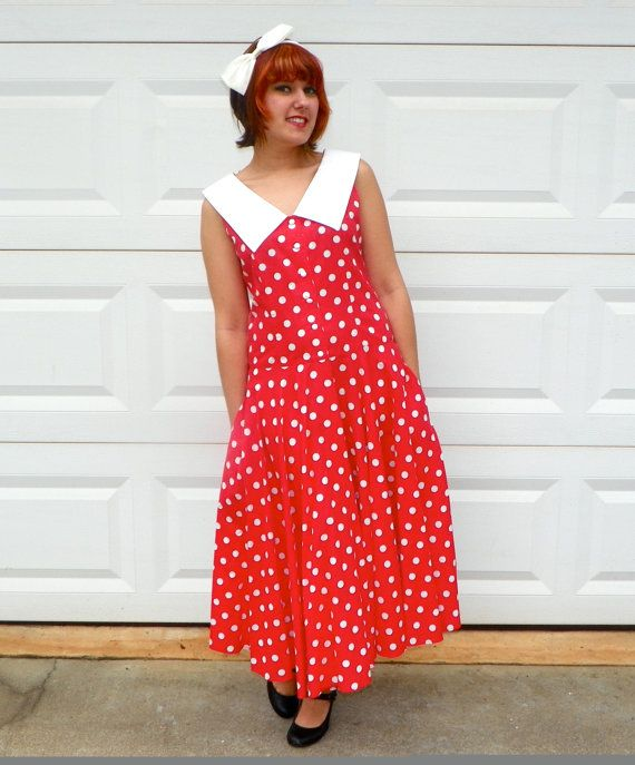 I Love Lucy 1940s Style Red with White Polka by Enchantedfuture