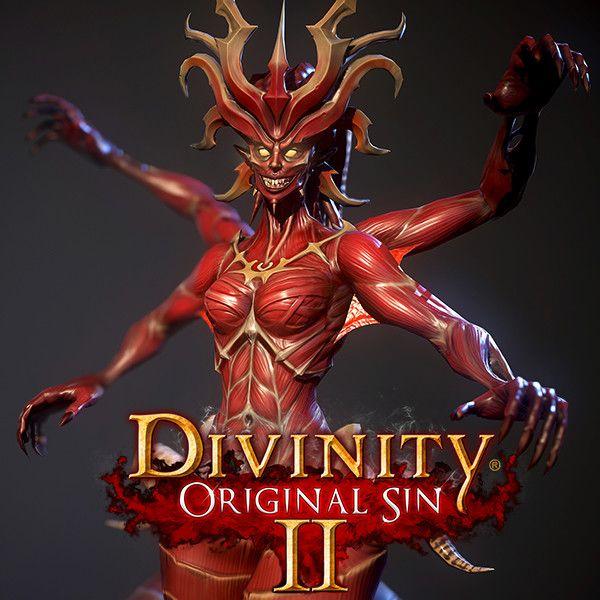 Demon Creature For Divinity Original Sin 2 , Alena Dubrovina on ArtStation at https://www.artstation.com/artwork/JqvoD