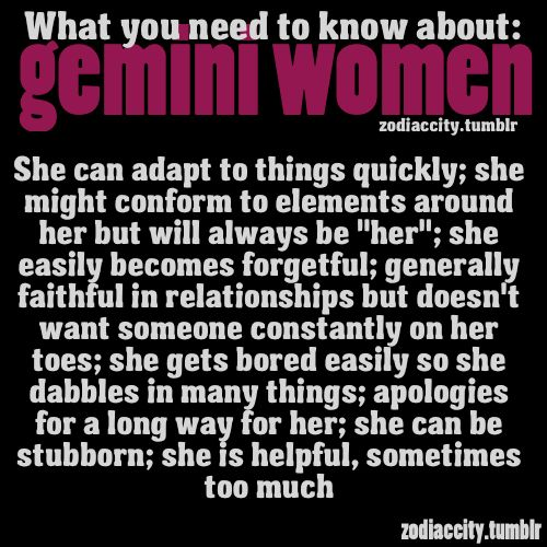 facts about dating a gemini woman