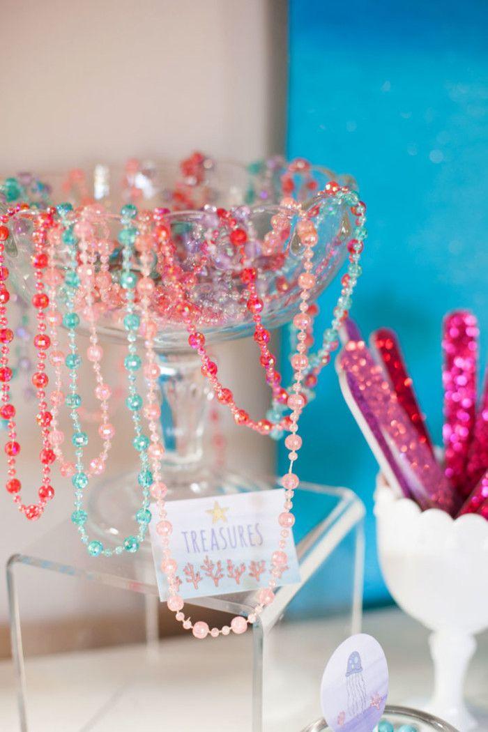 Mermaid Party Favor Ideas | Mermaid Birthday Ideas | by Jessica Wilcox of Modern Moments Designs | www.modernmomentsdesigns.com