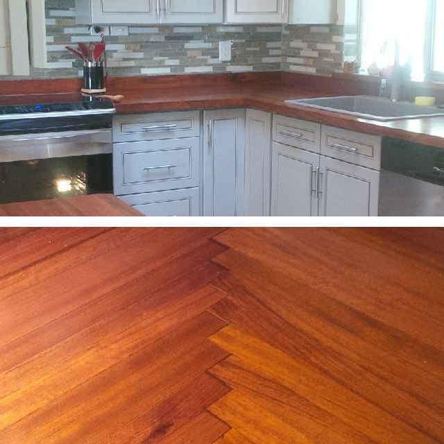 Beautiful Waterlox Countertops With A Herringbone Corner! Sent In By Our  Customer Douglas. Http