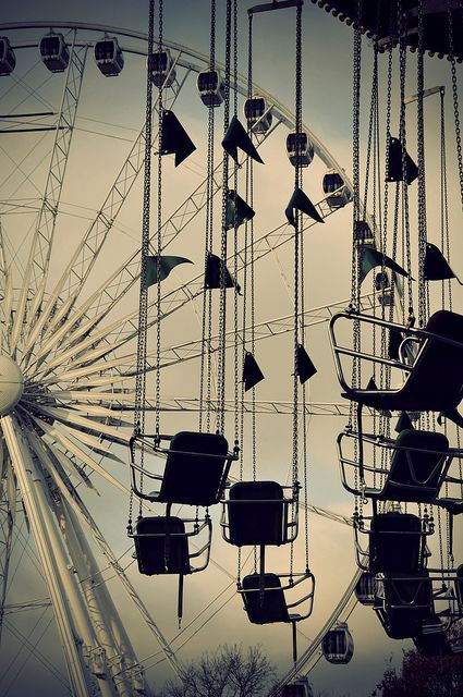 carnival  Photos, Black And White, Swings, Carnivals, Hyde Parks, Amusement Parks, Childhood, Ferris Wheels, Photography