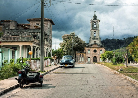 Driving around Cuba. San Miguel Los Banos
