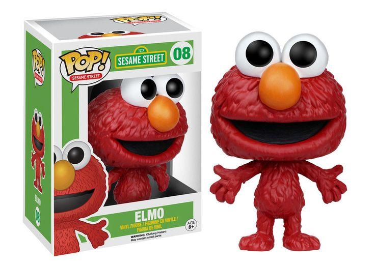 Sesamstrasse POP! TV Vinyl Figur Elmo 9 cm   Sesamstraße - Hadesflamme - Merchandise - Onlineshop für alles was das (Fan) Herz begehrt!
