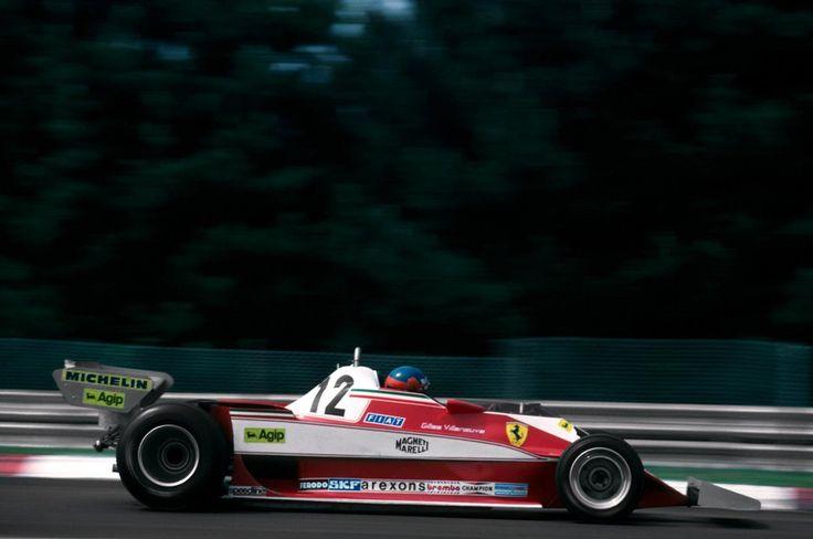 Gilles Villeneuve (Scuderia Ferrari), Ferrari 312T3 - Ferrari Tipo 015 3.0 Flat-12, 1978 Belgian Grand Prix, (Zolder)