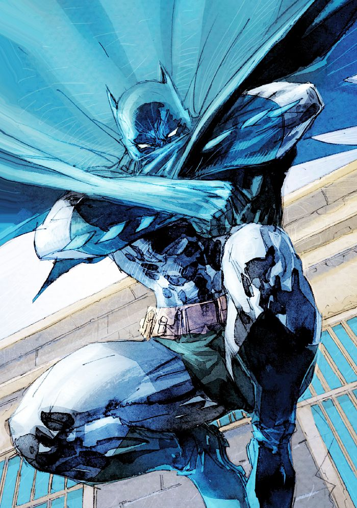 Making an Entrance in Batman Europa #001 - Jim Lee