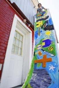 Community Art Mural - Featuring Education and Visual Arts Director, Andee Rudloff