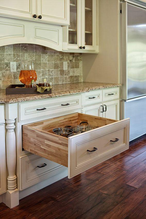 Devon (Flat Panel) - Cream White - Kitchen Cabinets - Kitchen Cabinets |  The Solid Wood Cabinet Company |