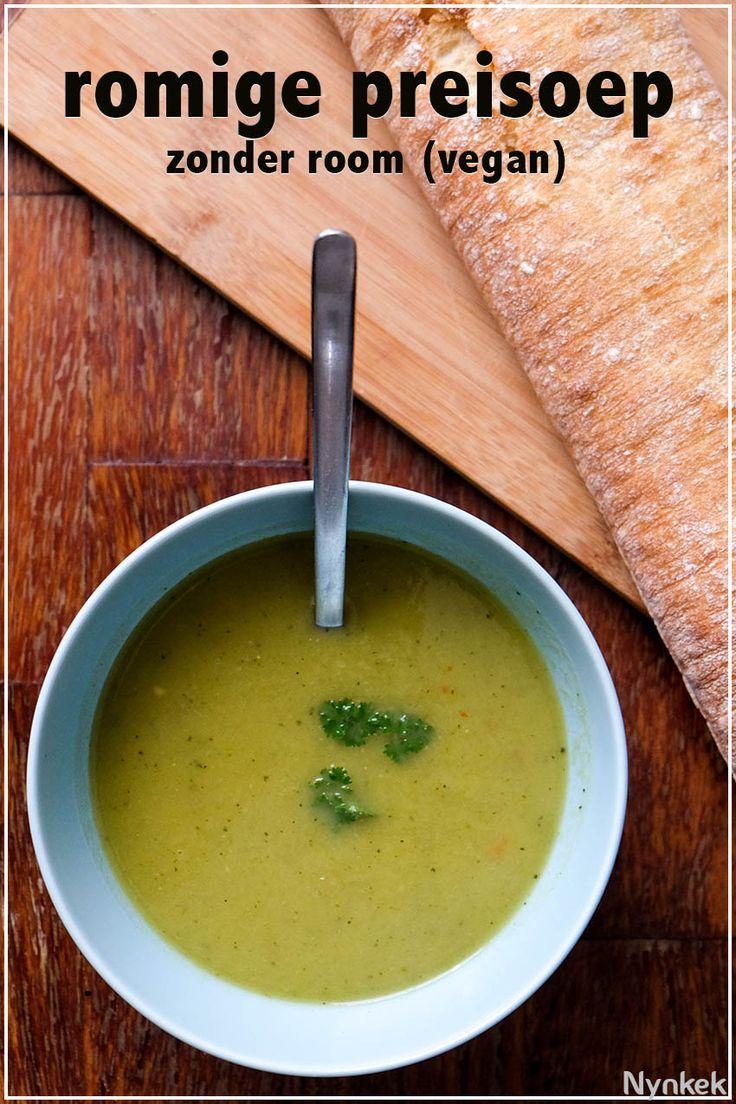 Prei/courgette-soep: Courgette is fijn, omdat het de soep romig maakt waardoor je geen kookroom hoeft toe te voegen. Via nynkek.nl