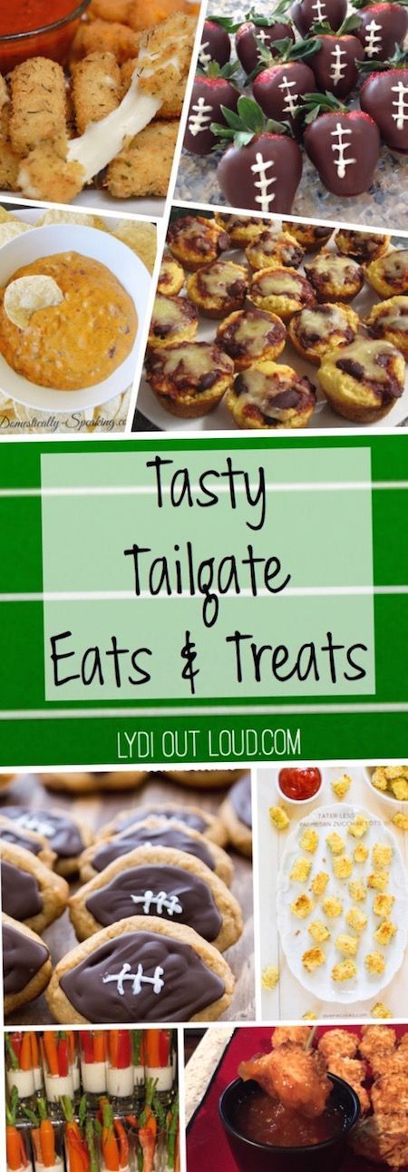 Perfect tailgate party foods!