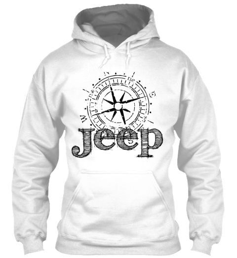 Jeep Compass   Limited Edition White Sweatshirt Front