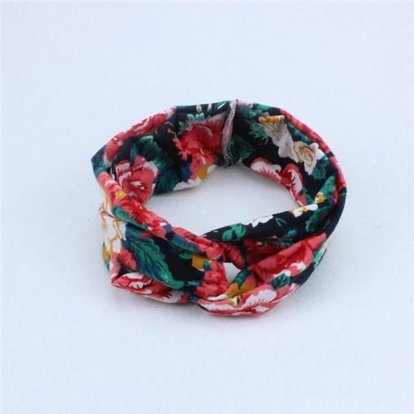 Korean Baby Girl Headbands Hair Accessories Priting Flower Hair Bands for Girls New Born Head Band for Kids Cute Jewelry