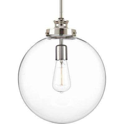 Von The Home Depot · Penn 1 Light Polished Nickel Large Pendant