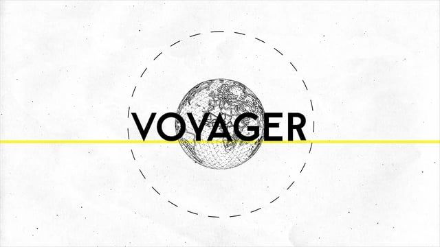 A modern day sans serif typeface, inspired by the Swiss style of typography. Voyager typeface is a contemporary geometric, versatile, modern sans-serif typeface. Highly legible across a variety of sizes. Included in the family is uppercase, lowercase characters, numerals, international characters, punctuation marks and ligatures. The animated version sports the bold weight, but the static version includes five weights plus the matching italics.  Designers.  Maarten van 't Wout - http://ww...