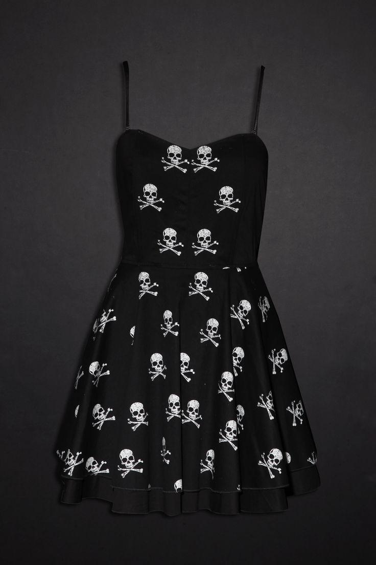 Skulls and bones.