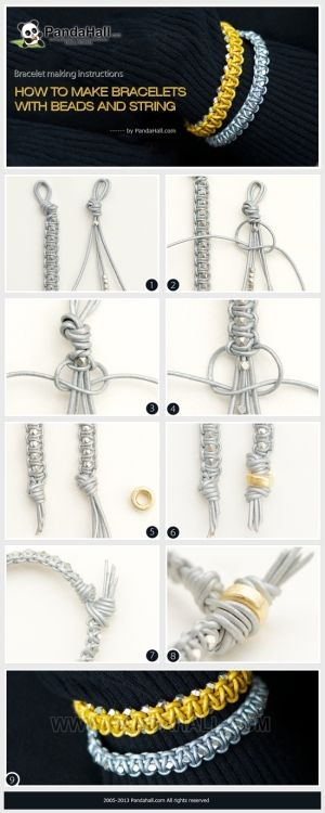 Bracelet making instructions-how to make bracelets with beads and string by wanting