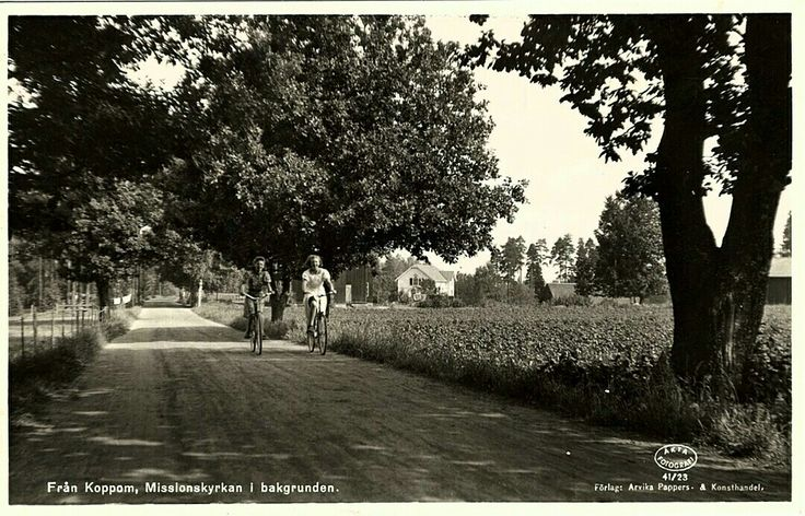Värmland Eda kommun Koppom med Missionskyrkan i bakgrunden Utg Arvika Pappers och Konsthandel 1940-talet