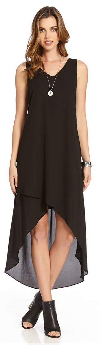 Flattering and chic, this is the perfect little black dress.