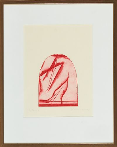 "Zdenka Rusova, radering 4/50 1982 ""form II"""