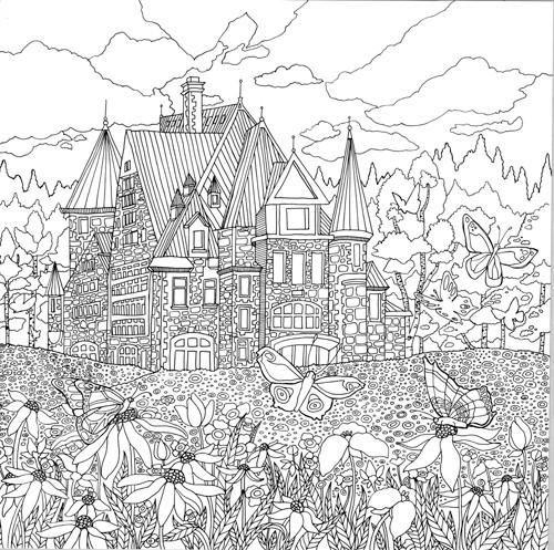 98 Besten Mandala Gebaude Burgen Landschaften Etc