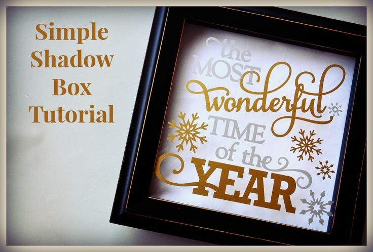 Holiday Shadow Box How-To Make In Under 20 minutes...LOVE!