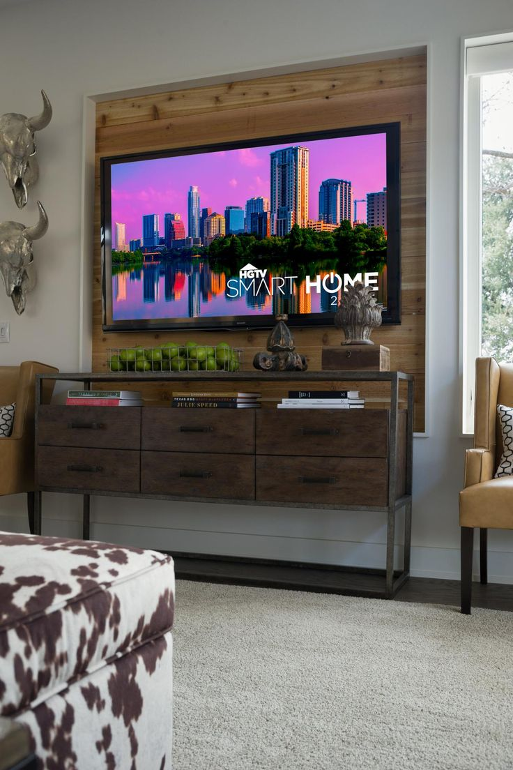 build a wood television niche HGTV 27