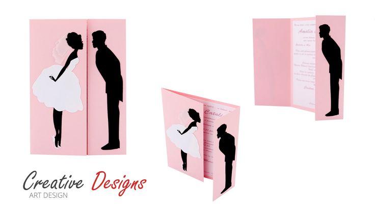 Invitatii Handmade pentru Nunta | Creative art Designs