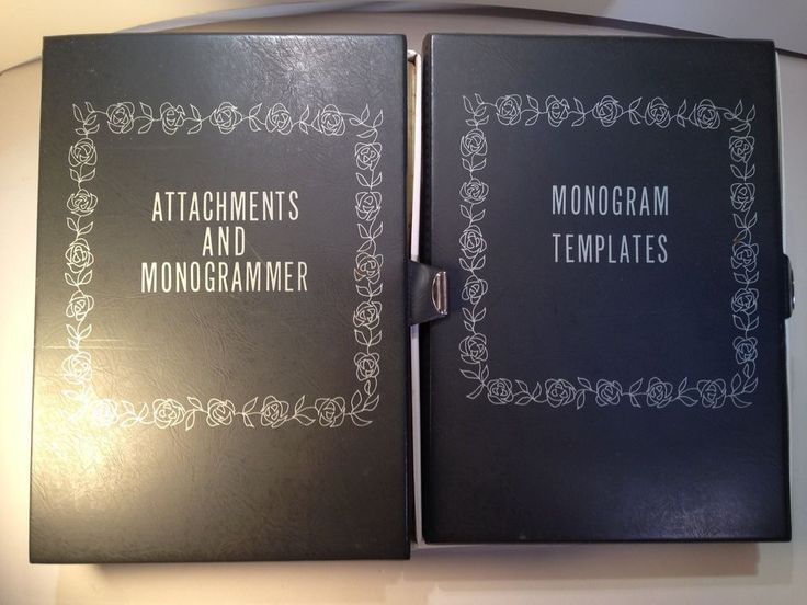 Vtg Sears Kenmore #Sewing Machine Monogrammer Templates & Attachments 2 Kits #SearsKenmore #Monogram