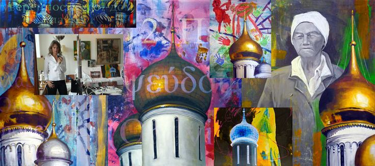 Russia Domes Collage, my new and improved site is a great archive of the work I have done in my artistic career until now... goto www.martinanagnostou.com