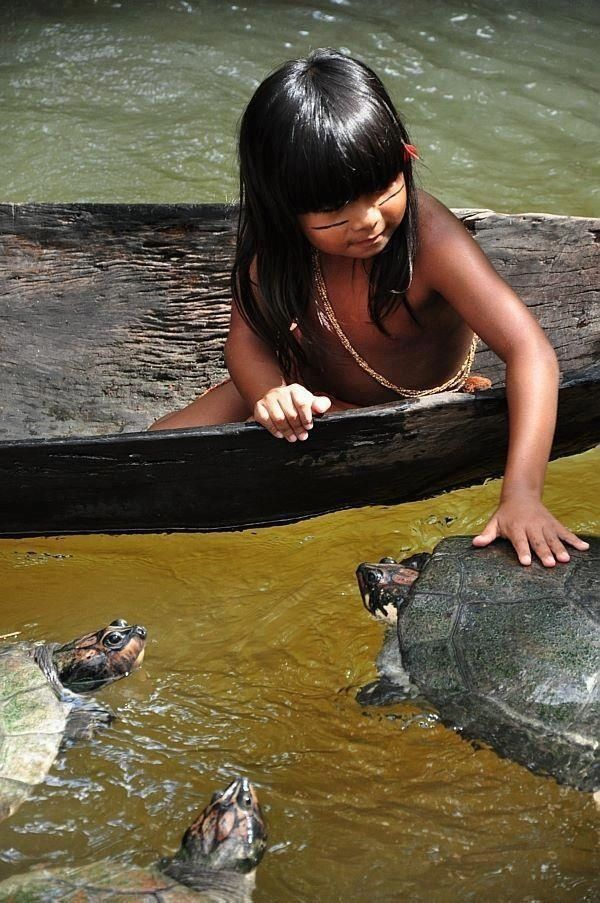 Child on The Amazon River