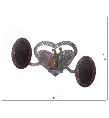 Shop Lord Krishna Big Statue Online in India, Order Now Antique Fiber Statues Lord Krishna  built on Marine Plywood Free Home Delivery available in India. http://www.krafthub.com/heart-with-photo-frame-as-wings.html?___SID=U