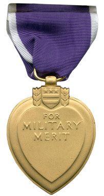 Awarding the Purple Heart Medal