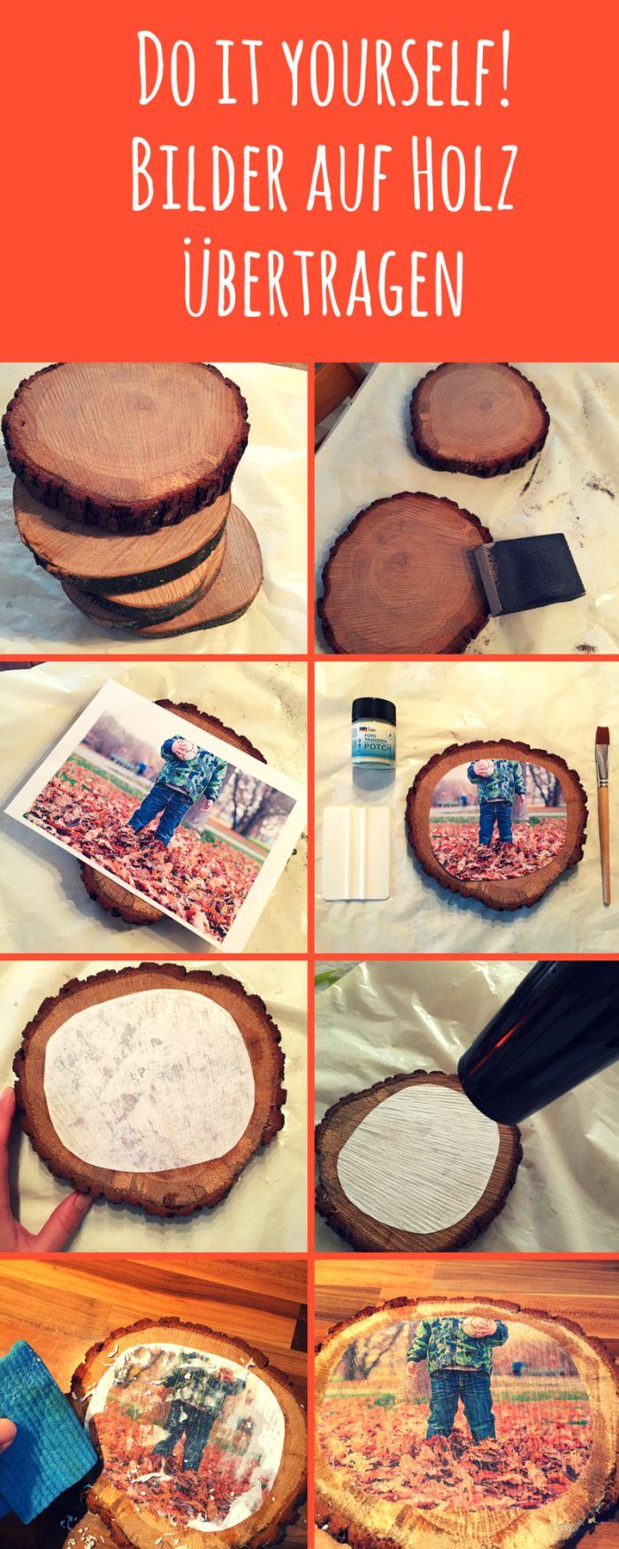 Fotos oder Bilder auf Holz zu übertragen ist super einfach und innerhalb…