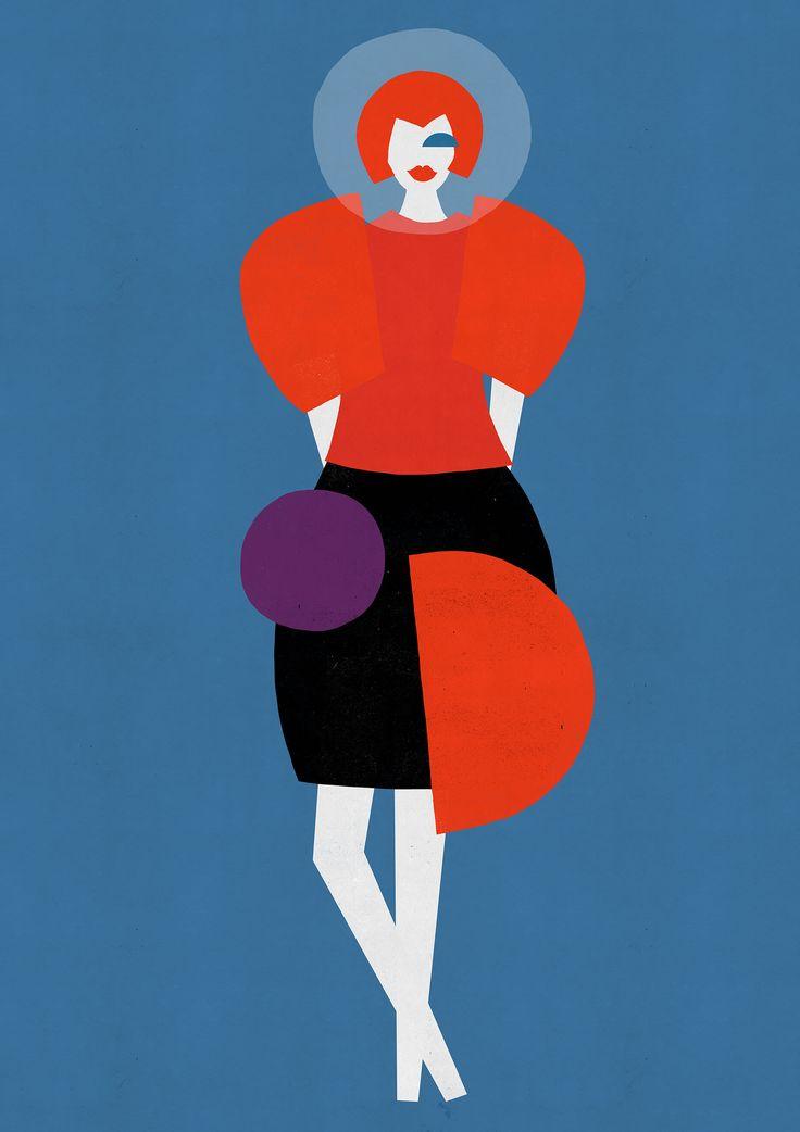 Joanna Gniady, Fashion illustration, Junya Watanabe