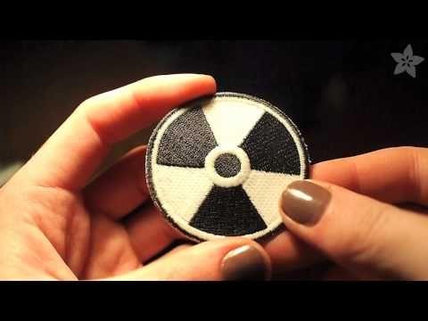 "Glow-in-the-dark ""Radiation"" Skill badge"