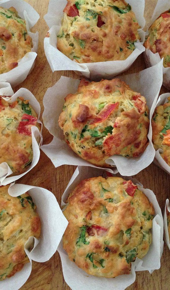 Cat's Feta and Spinach Savoury Muffins - Quick and Easy Recipes, Organic Food Recipes, New Zealand Cooking Recipes - Annabel Langbein