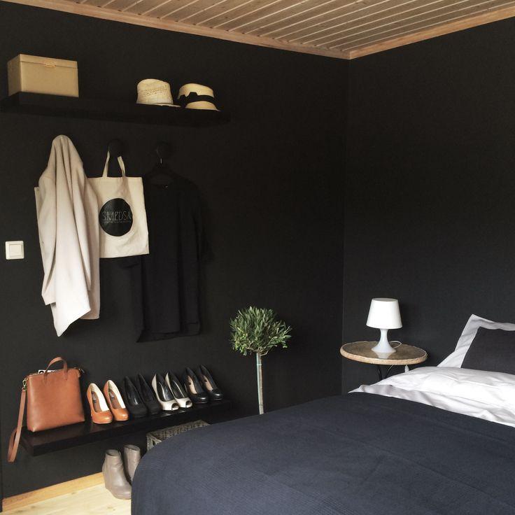 Bedroom makeover.  Black walls. NCS S8500-N, matte.