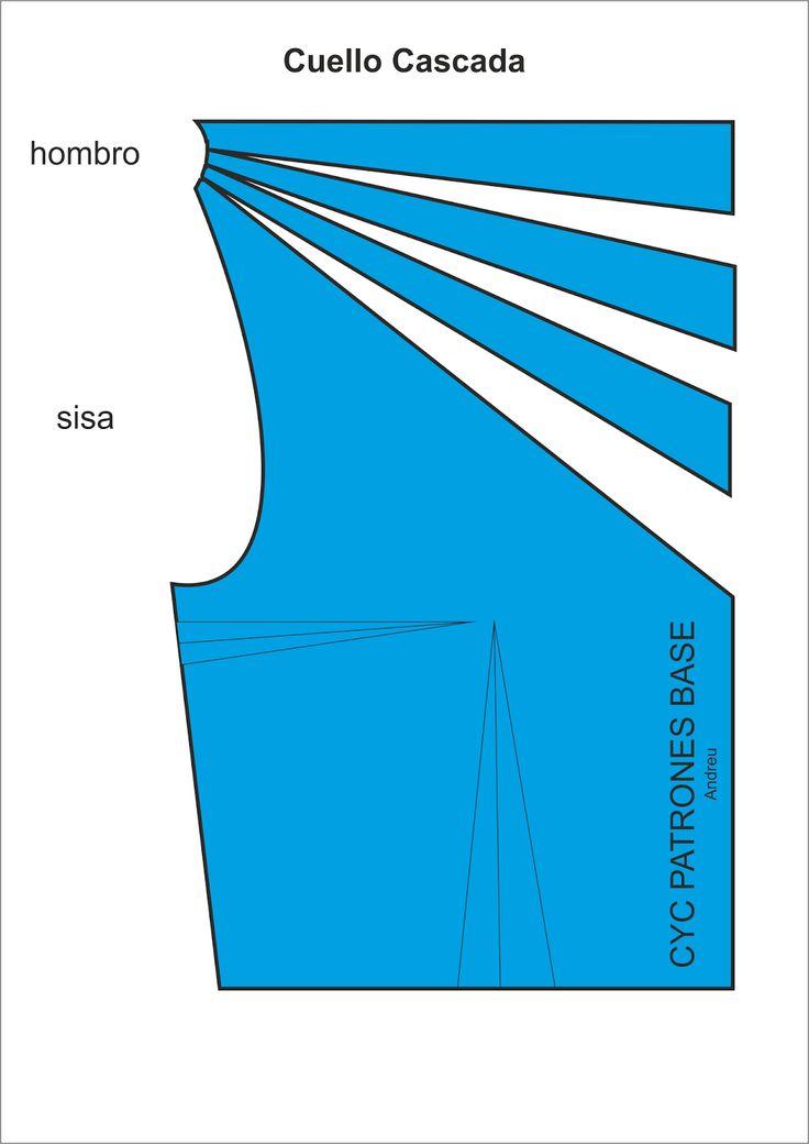 Curso de patrones base  y moda: Cuello  cascada