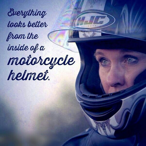 Everything looks better from the inside of a #motorcycle #helmet