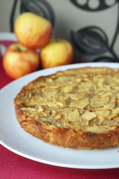 gateau aux pommes invisibles speculoos chocolat vanille