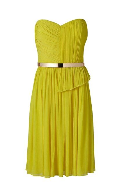 yellow cocktail dresses | Yellow Cocktail Dress at Mango - Summer Dresses 2013 (EasyLiving.co.uk ...