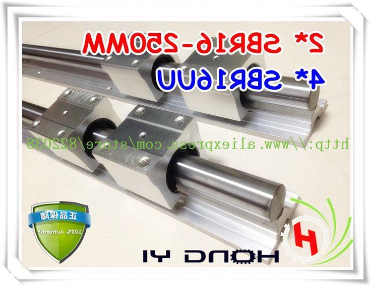 37.80$  Buy now - https://alitems.com/g/1e8d114494b01f4c715516525dc3e8/?i=5&ulp=https%3A%2F%2Fwww.aliexpress.com%2Fitem%2FFree-shipping-2Pcs-SBR16-250mm-linear-rails-4-pcs-SBR16UU-linear-bearings-can-be-cut-any%2F1345896051.html - Free shipping 2Pcs SBR16-250mm linear rails +4 pcs SBR16UU Linear Guides bearing blocks for CNC