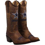 pink and black cowboy boots for women | Dallas Cowboys Womens Flyover Pull Up Cowboy Boots - Brown
