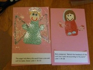 Nativity Story books--a page for each character, including Bible verses.